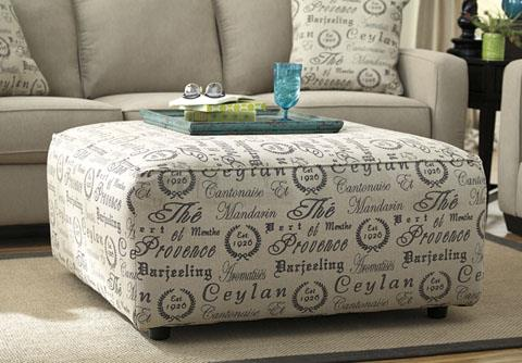 Signature Design | Alenya Quartz oversized ottoman