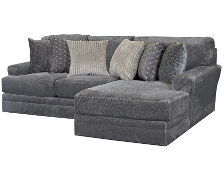 Rent Jackson Furniture Mammoth Smoke Loveseat With Chaise Living