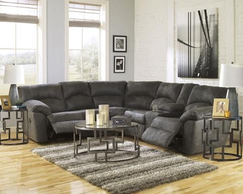 Signature Design   Tambo Pewter Dual Reclining Sectional