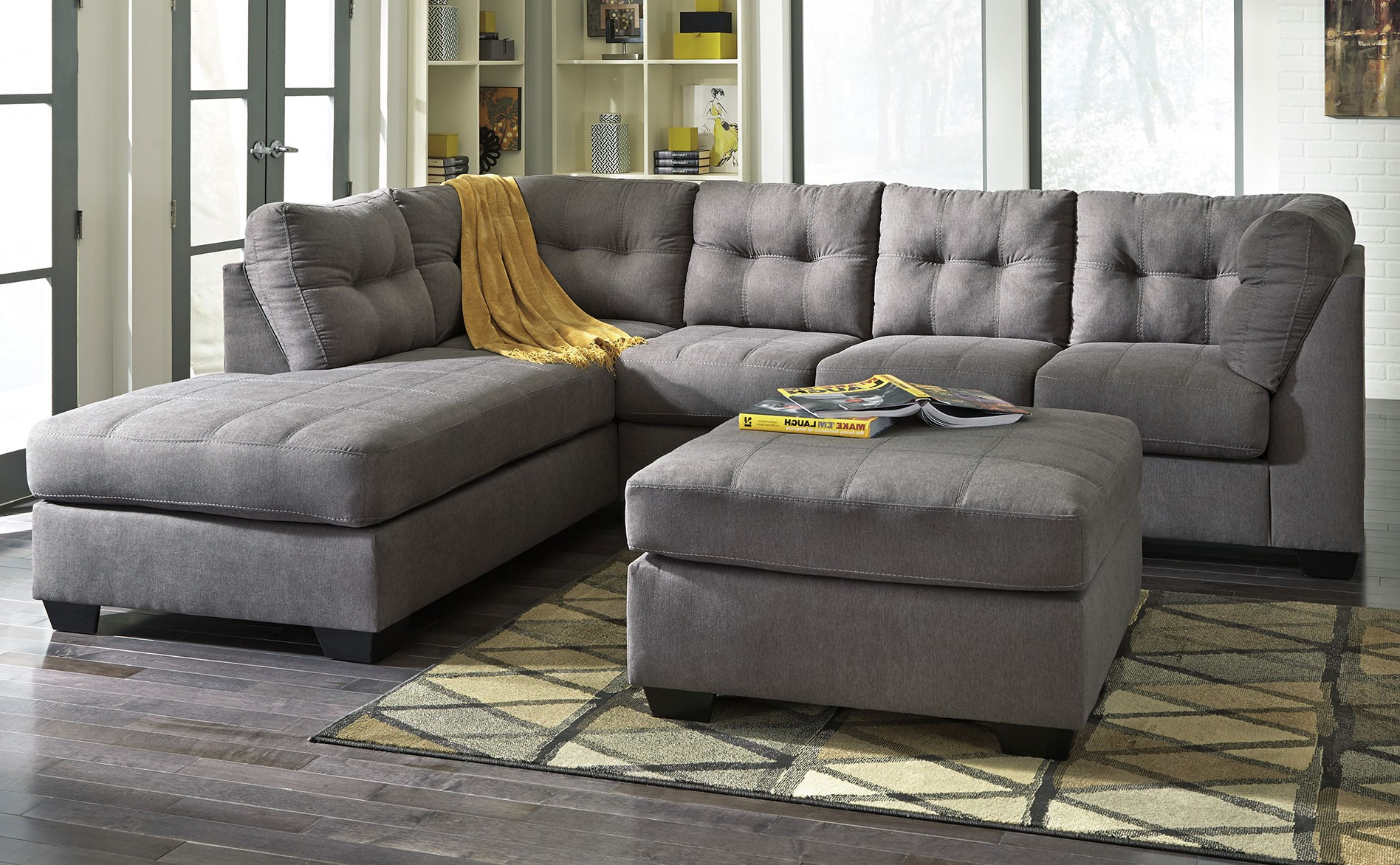 Signature Design Maier 2-Piece Chaise Sectional - Charcoal