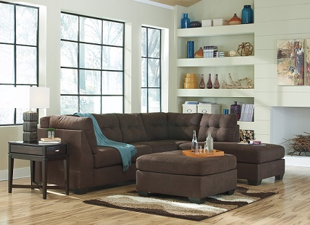 Maier Walnut RAF Chaise Sectional