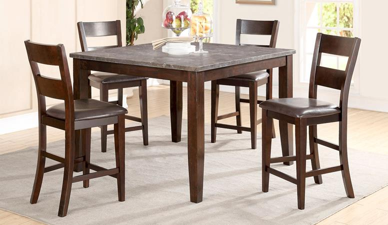 American Imports | PUB TABLE, 4 CHAIRS & BENCH BLUE STONE