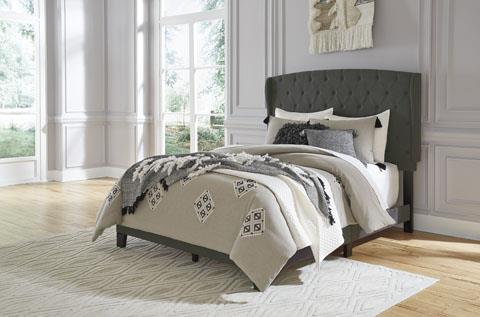 Signature Design Vintasso Black Upholstered Bed.