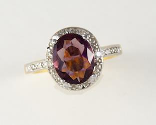 New Generations Diamond/Amethyst Ring