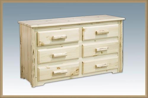 Montana Woodworks | Amish Built 6 Drawer Dresser & Mirror