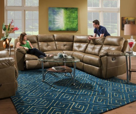 Simmons Bradford Toast Reclining Sectional