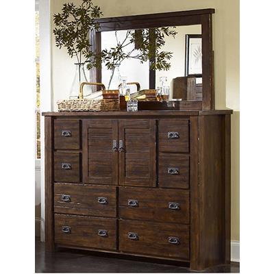 Progressive Furniture   Trestlewood Mesquite Pine Dresser & Mirror