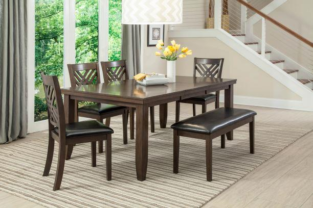 American Imports Dark Brown Dining Table and 6 Chairs