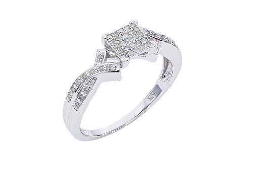 New Generations Square Diamonds Ring