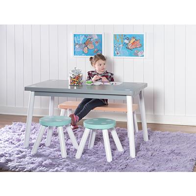 Powell   Parfait Youth Table w/ 2 Chairs & Bench