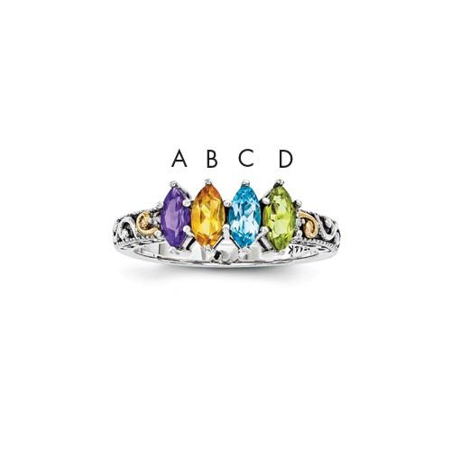 New Generations   Synthetic Stone Family Ring