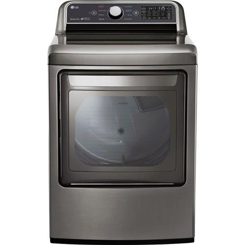 LG | 7.3 CF Electric Dryer Rear CtrlGraphite