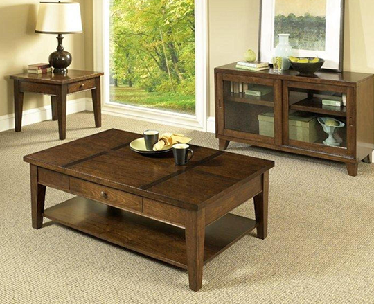 Walnut Cocktail Table Set 540 x 439