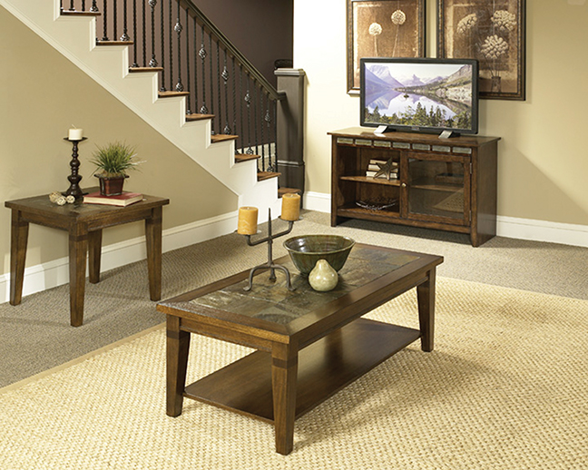 Rent American Wholesale Furniture Oak Slate Occasional