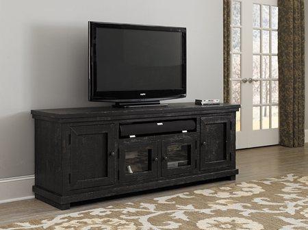 Progressive Furniture | Willow Black 74 TV Stand