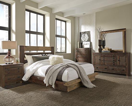 Progressive Furniture | Trilogy Two-Tone King Platform Bed