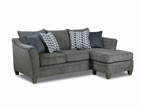 Rent United Albany Pewter Sofa With Chaise Furniture Rental