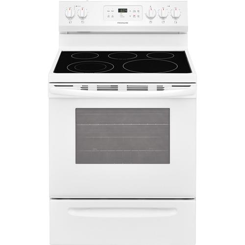 """Frigidaire   30"""" Smooth Top Self Cleaning White Range"""