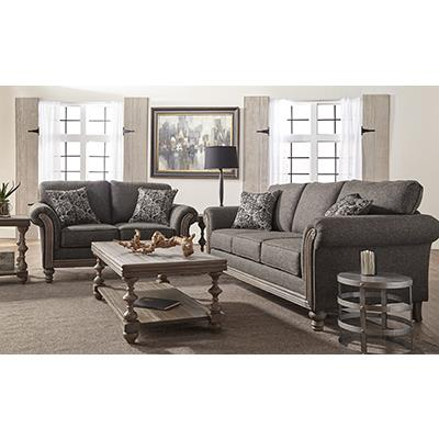 Hughes   Element Obsidian SOFA and LOVESEAT