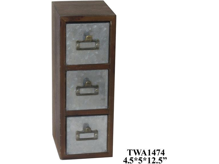 Crestview Collections | 3 drawer Cabinet