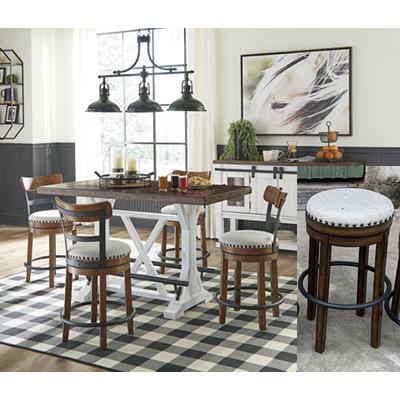 Signature Design | Valeback Pub style table w/ 4 stools