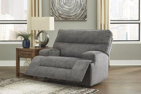 Signature Design | Coombs Charcoal Wide Seat Recliner