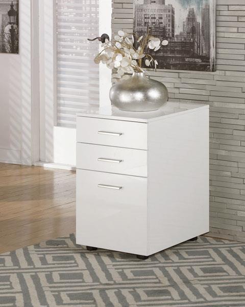 Signature Design   baraga White File Cabinet
