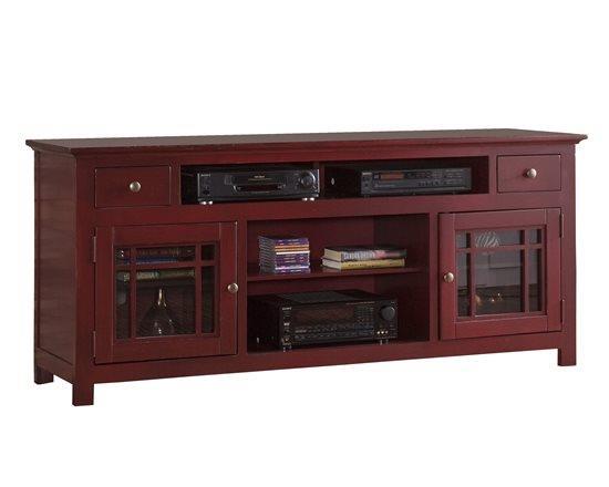 Progressive Furniture   Emerson Hills Red 64 TV Stand