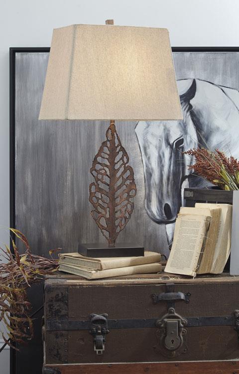 Signature Design   METAL TABLE LAMP (2/CN) Jolisa Antique Brown