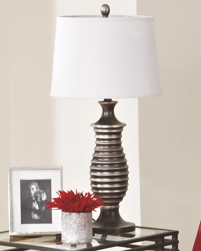 Signature Design | Rory Antique Silver Finish Lamps