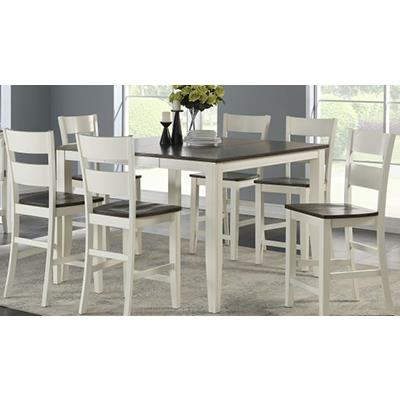 American Imports | Wht/Gray Pub table w/6 chairs