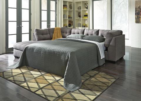 Signature Design | Maier Charcoal Sleeper Sectional