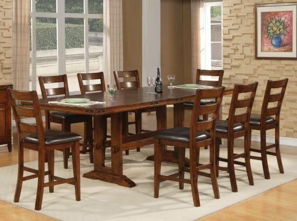 American Imports Double Trestle Pub w/ 8 chairs