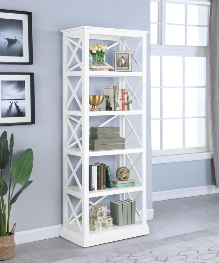 Coaster   White Bookcase