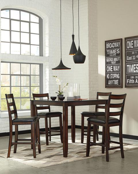 Signature Design | Coviar Brown Table and 4 Chairs