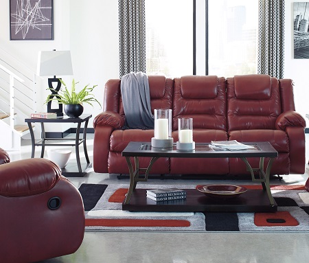 Remarkable Rent Signature Design Vacherie Salsa Reclining Sofa Gmtry Best Dining Table And Chair Ideas Images Gmtryco
