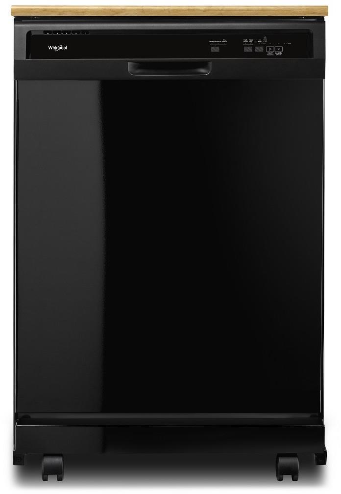 Whirlpool | Black Portable Dishwasher