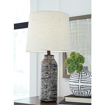 Signature Design | Mahima Black/White PAPER TABLE LAMP (2/CN)