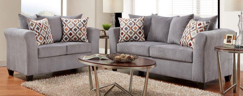Washington Furniture Rue Grey SOFA and LOVESEAT