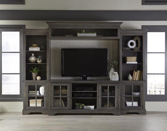 Progressive Furniture | E727 Wall Unit Complete Entertainment Console