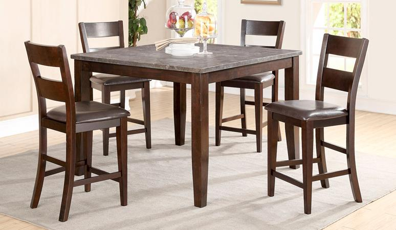 American Imports Blue Stone Pub Table & 6 chairs