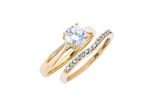 New Generations   Moissanite and Diamond Bridal Set