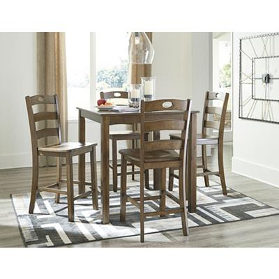 Signature Design | Hazelteen Pub table w/ 4 chairs.