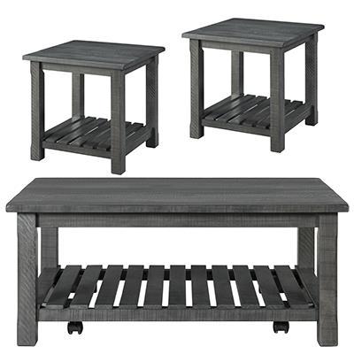 Martin Svensson Home | Barn Door Grey Coffee & End Tables