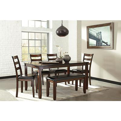 Signature Design | Coviar Brown Table and 4 Chairs and Bench