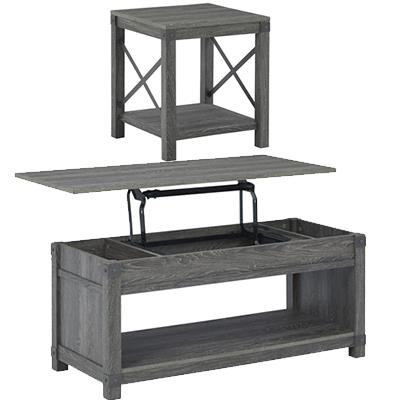 Signature Design   Freedan Grayish Brown lift top sofa table w/ ET