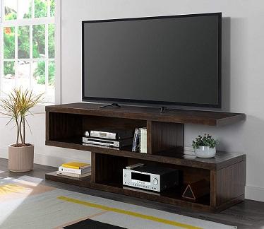 Lexington Solid Wood Mocha TV Stand