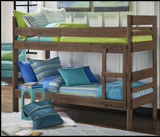 American Imports   Chestnut Twin over Twin Bunkbed w/ ladder