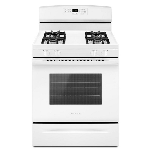 Amana 5.0 cu. ft. Gas Range with Self-Cleaning Oven - White