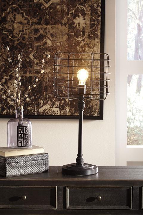 Signature Design | Javan Black metal lamps